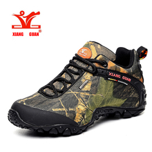 XiangGuan model women and men out of doors Hiking sneakers waterproof canvas sport trekking boots Anti-skid Wear Mountain Climbing Shoes