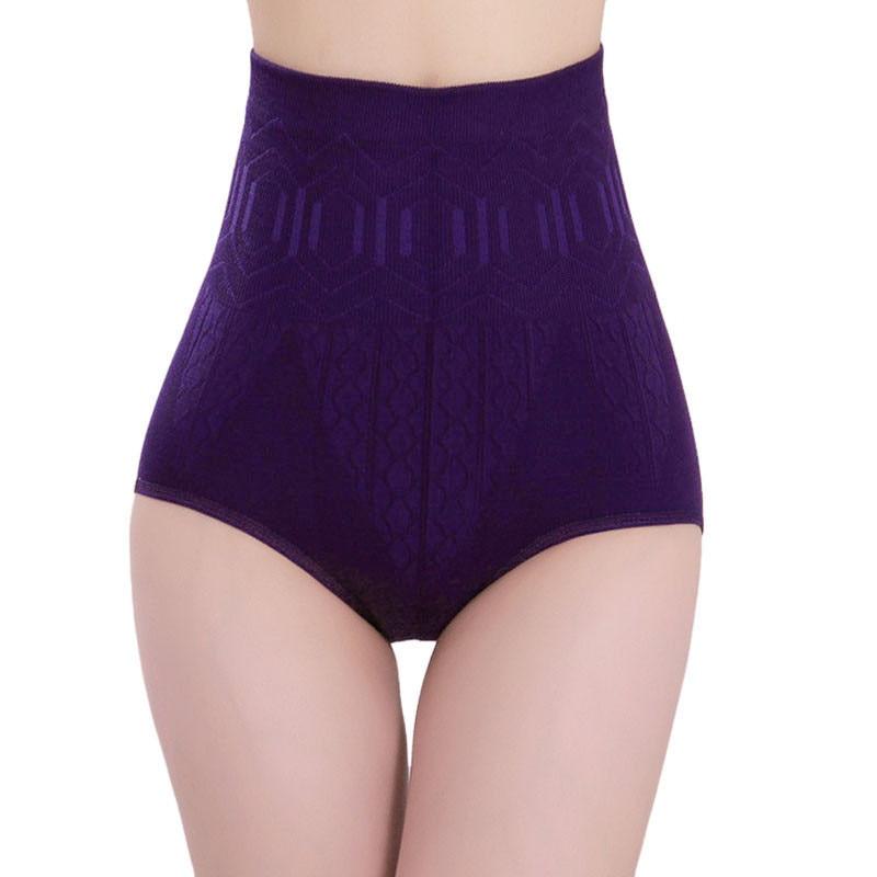 Seamless Women's Underwear New Sexy Fashion Abdomen Abdomen Underwear Solid Color Cotton  Breathable High Waist Underwear