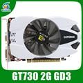 Оригинальный новый видео видеокарт GT730 2 ГБ DDR3 64BIT 902/1600 МГц 384 CUDA DVI/VGA/HDMI