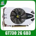 Original novo vídeo placas gráficas GT730 2 GB DDR3 64BIT 902/1600 MHz 384 CUDA DVI/VGA/HDMI