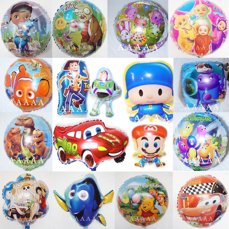 5pc/lot foil balloons POCOYO Doc McStuffins balloon toy story Woody Teletubbies