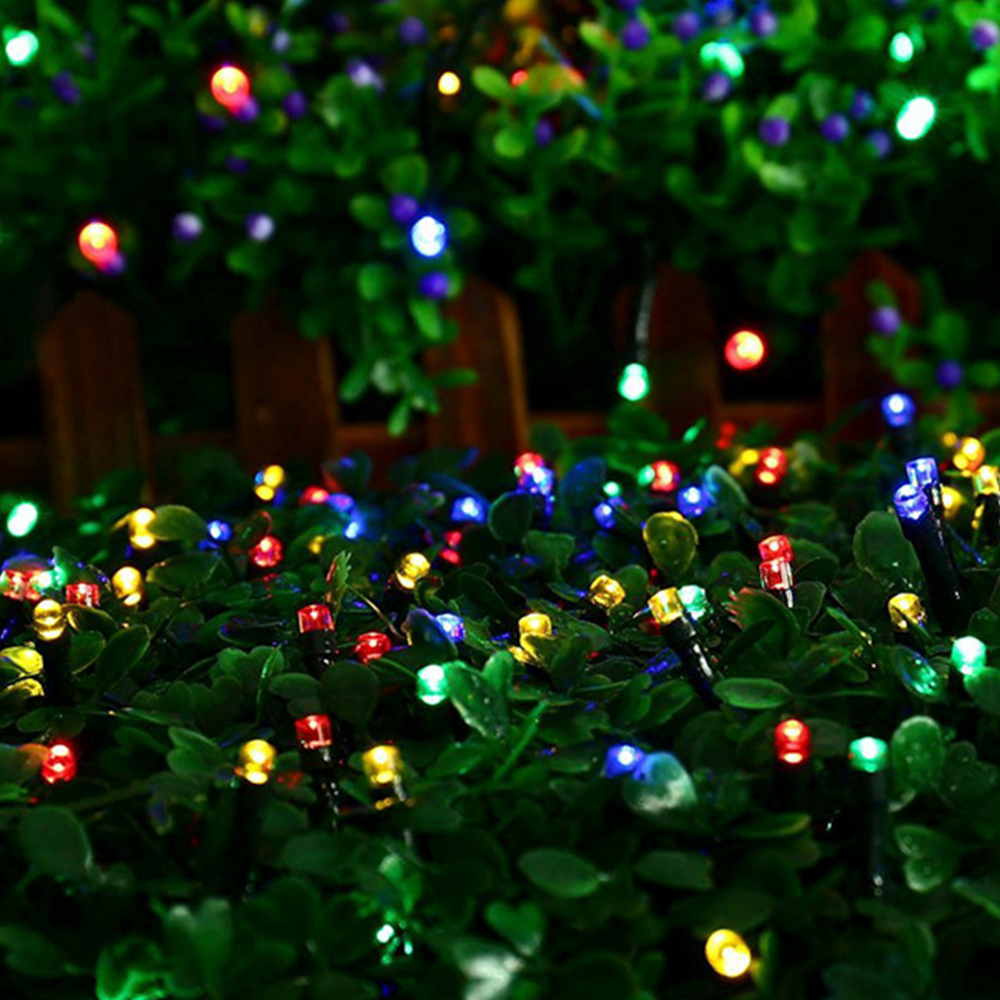 Us 3 98 30 Off 10m Garland Christmas Lights Rgb Led String Light Indoor Outdoor Xmas Tree Decoration 100 Leds Waterproof Holiday Fairy Lights In
