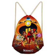 ThiKin The Incredibles Drawstring Bag Boy Travel School Bag Women Backpack Kid Girl Lightweight School Bag Family Gift Bag