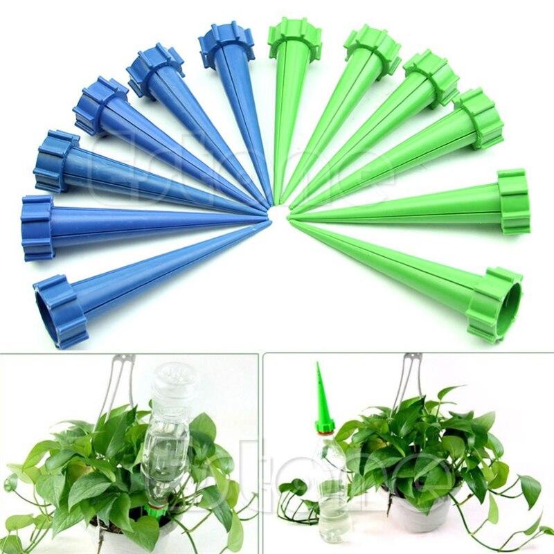 12 Giardino Irrigazione Kit Di Irrigazione Fiore Flora Acqua Di Controllo Gocciolamento Cono Spike Waterer Bottiglia Sistema Di Irrigazione