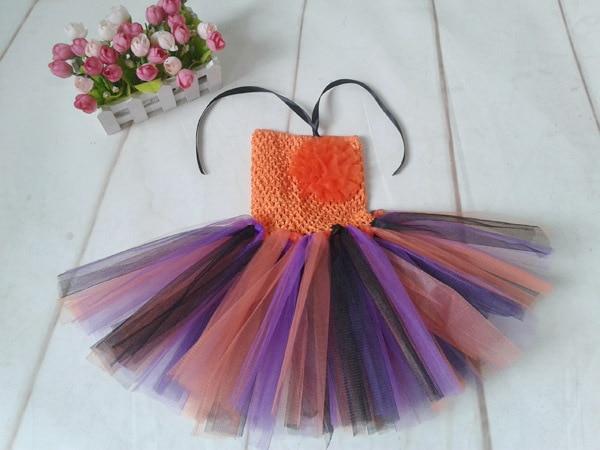 Baby Tutu Dress Halloween Stlye Baby Girls Party Dresses Kids Toddler Crochet Knitted Dresses