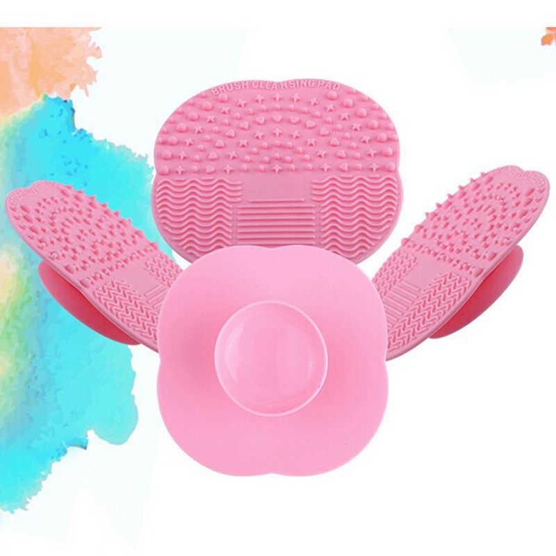 1 PC 8 kolory silikonowe czyszczenie kosmetyczne Make Up szczotka do mycia żel Cleaner Scrubber narzędzie fundacja makijaż mata do czyszczenia Pad narzędzie