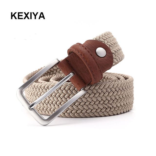 9188d9eb8e US $8.0 45% OFF|KEXIYA 2017 Hot Sales Men Belt Stretch Belt High Quality  Luxury Casual Striped Fashion Belt Black Knit Men's Blue Belt-in Men's  Belts ...