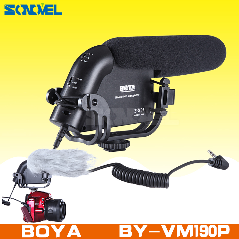 все цены на BOYA BY-VM190P Camera Stereo Video Condenser Hypercardioid Microphone record for Canon Nikon Pentax DSLR Camera Camcorder DV