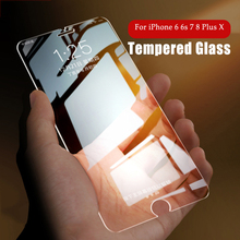 Ultra-thin Premium Tempered Glass Screen Protector For iPhone X 7 8 Plus 6 6s Plus 5 5s se 4 4s Toughened Film 2.5D 0.26mm milo third generation ultra thin 0 2mm tempered glass screen protector for iphone 4 4s