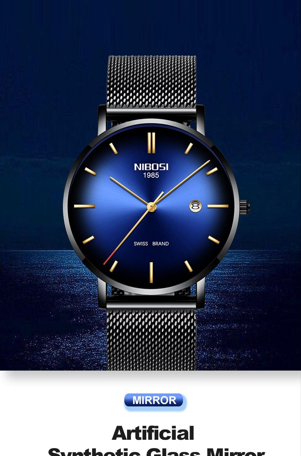 HTB1LD HaEjrK1RkHFNRq6ySvpXaD NIBOSI Watch Men Simple Fashion Swiss Brand Quartz Watch Luxury Creative Waterproof Date Casual Men Watches Relogio Masculino