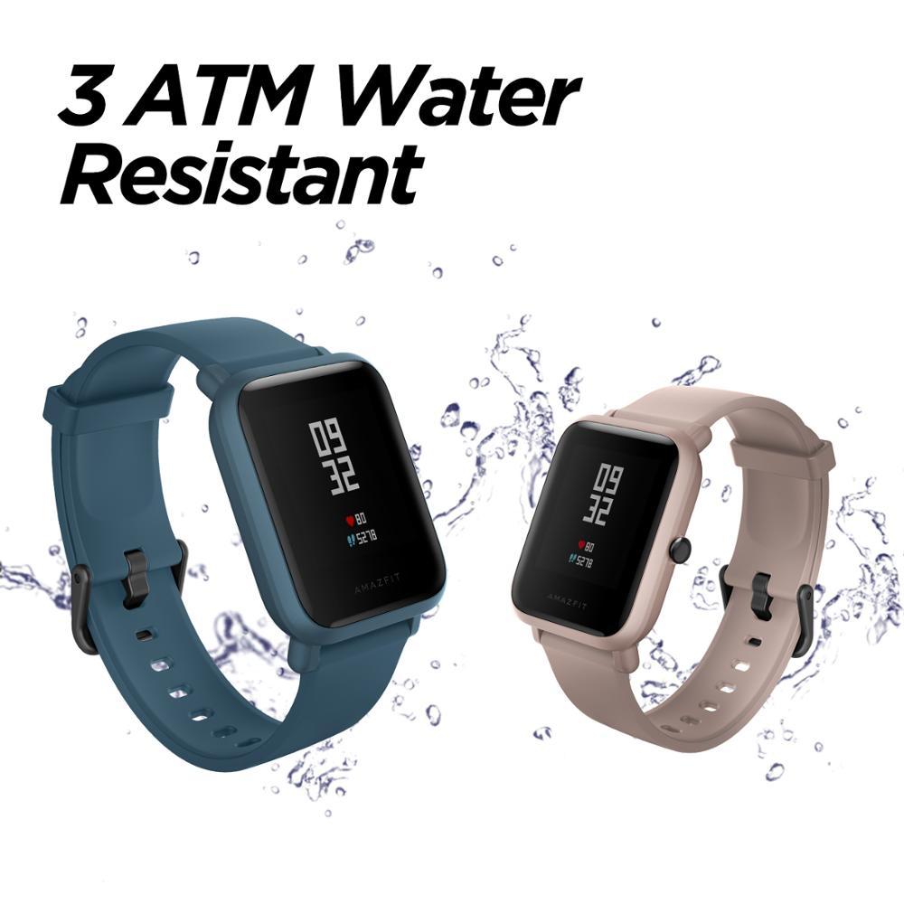 Amazfit Bip Lite Smart Horloge 45 Dag Batterij Leven 3ATM Water weerstand Activiteit Gezonde Tracking Smartphone Apps Meldingen-in Smart watches van Consumentenelektronica op  Groep 2
