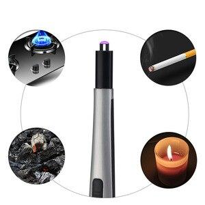 Image 4 - Isqueiro de churrasco recarregável por usb, acendedor eletrônico de cozinha, cigarro, paleta de plasma, pulso, fogões a gás, isqueiro