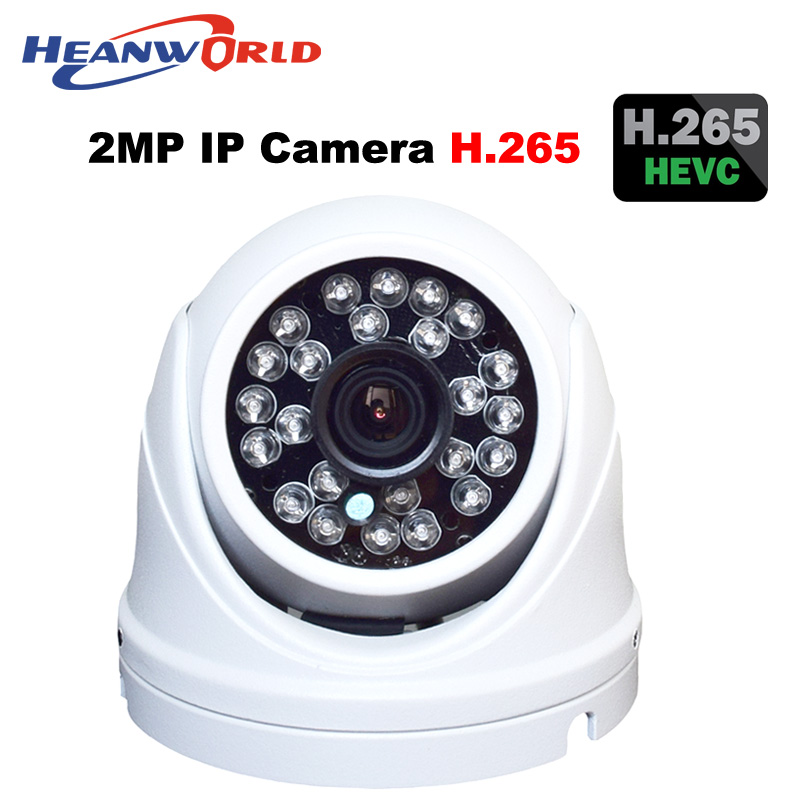 Heanworld HD H.265 dome camera 2.0MP cctv security camera 1080P onvif Infrared IR camera outdoor waterproof IP cam metal case wistino cctv camera metal housing outdoor use waterproof bullet casing for ip camera hot sale white color cover case