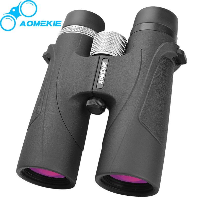 Aomekie 8x42 prismáticos HD profesional FMC recubierto lente de alta potencia bak4 prisma Caza telescopio campo telescopio