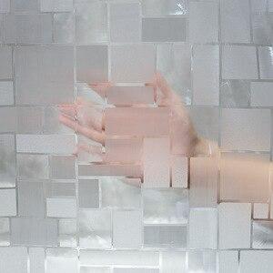 Image 4 - EVA kare duş perdesi şeffaf kalınlaşmış duş perdeleri 3D banyo perdesi Moldproof su geçirmez banyo malzemeleri