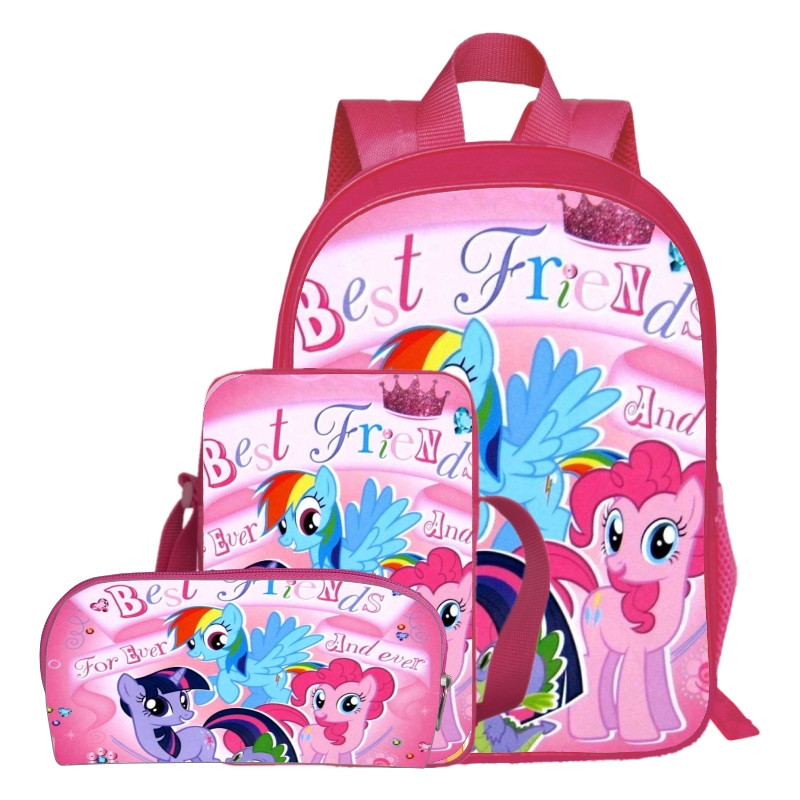 Hot Sale Oxford 16-Inches Printing Cartoon My Little Pony Women Backpack for Teenage Girls School Bags for Children Schoolbag