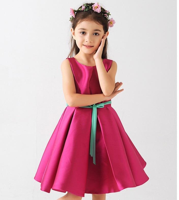 2016 kids gown design lace princess dresses children satin
