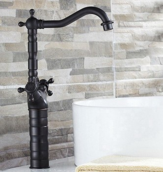 Basin Faucets Oil Rubbed Bronze Bathroom Sink Faucet Double Cross Handle Bath kitchen Mixer Hot and Cold Tap znf021 antique brass double handle bathroom faucet swivel spout kitchen mixer faucets hot and cold basin sink mixer tap kd1206
