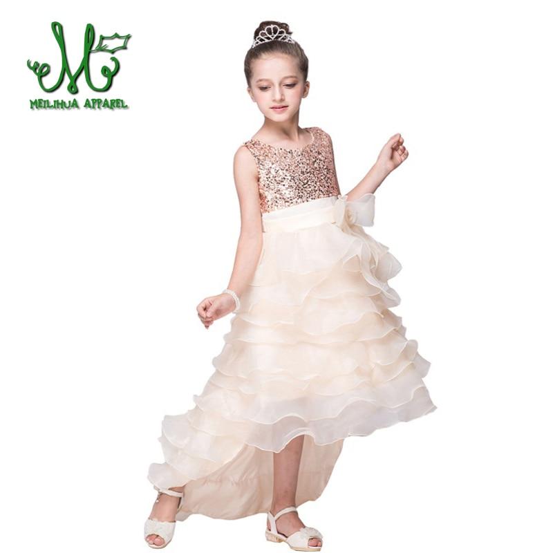 98cdb7cfed 2018 Nowa moda Sukienka dla dziewczynki Księżniczka Sukienka dla ...