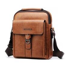 WEIXIER 2019 new men's shoulder bag soft PU leather material