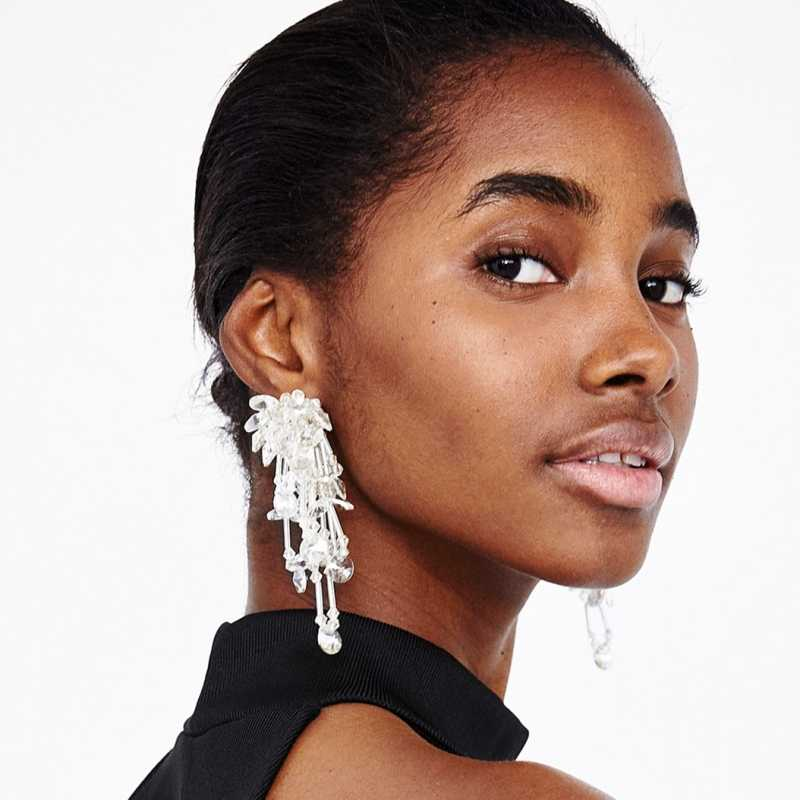 JURAN 2019 new design Ethnic Beads Tassel Dangle Earring for Women za Boho Jewelry 6 Colors Statement Fringing Earring