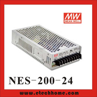 High Reliability Mean Well Switching Power Supply 200W 24V 8.8A Single Output NES 200 24 For stepper Motor