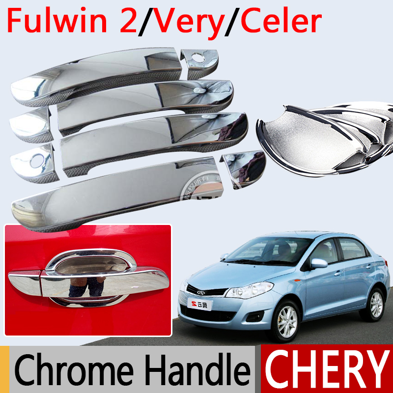 For Chery Very Celer Accessories Chrome Door Handle Fulwin 2 Storm Bonus ZAZ Forza MVM 315