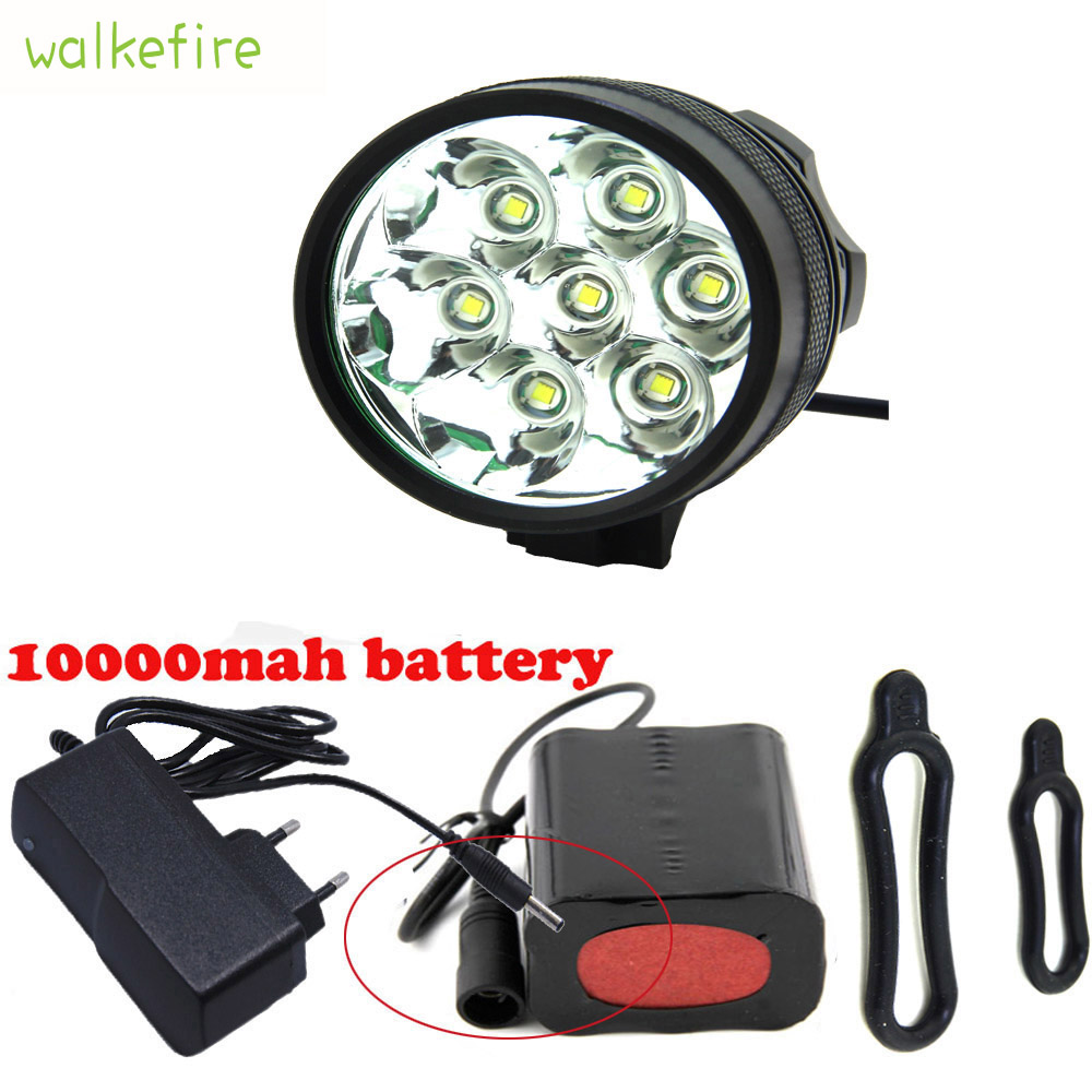 Walkfire Bike Accessories Waterproof 10000Lm 7 x XML T6 LED Bicycle Light Bike Front FlashLight 18650 Rechargeable Battery Pack sitemap 275 xml page 7