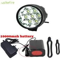 Walkfire Bike Zubehör Wasserdichtes 10000Lm 7 x XML T6 LED Fahrrad Licht Fahrrad vorderes Taschenlampe 18650 Akku-in Fahrradlicht aus Sport und Unterhaltung bei