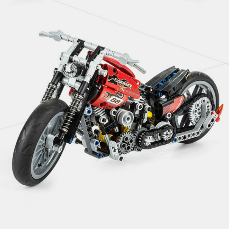 3354  Harley Vehicle Set Building Block 7115 3353 3373 Compatible with 8051 Toys Technical Motorcycle Exploiture Model