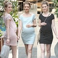 New  Maternity Wear Pregnant  Dress Cotton Striped  Vestido Gravida  Maternity Clothes 6MDS006