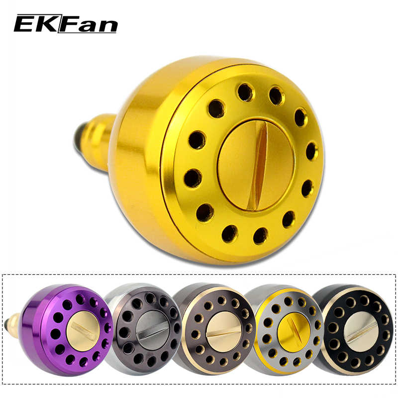 EKfan 2000 Series New Design Machined Metal Fishing Reel Handle Knobs For Bait Casting Spining Reels Fishing Tackles Accessory