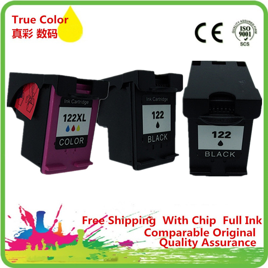 Ink Cartridges Remanufactured For 122 XL HP122 <font><b>HP122XL</b></font> 122XL Deskjet F2483 D1600 D1660 D1663 D2500 D2560 D2563 D2660 image