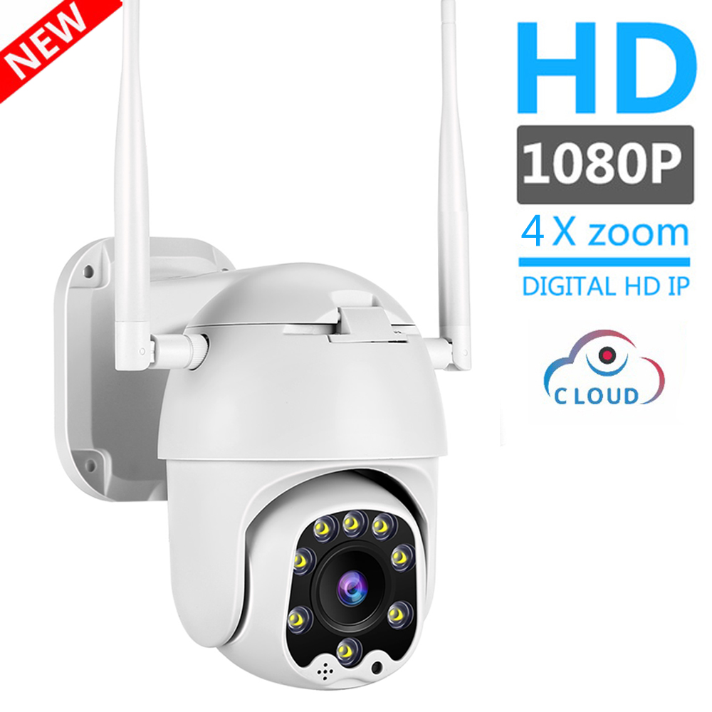 1080P 2MP Wireless IP Camera Wifi Speed Dome PTZ Outdoor IP66 Onvif Two Way Audio IR CCTV Security Surveillance Camara Exterior