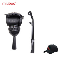 Miliboo M8 профессионального вещания Фильм Видео жидкости главы нагрузки 15 кг Heavy Duty Штатив Камера стенд с 100 мм чаша
