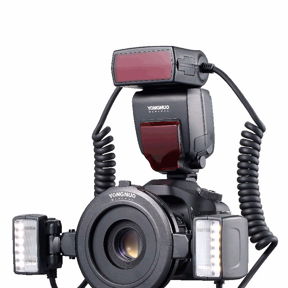 Yongnuo YN24EX TTL Macro Flash Speedlite with Adapter Rings for Canon EOS 5DII 5DIII 650D 600D