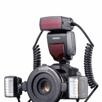 Yongnuo TTL Macro YN24EX Flash Speedlite com Anéis Adaptador para Canon EOS 5DIII 5DII 5 650D 600D 450D Listagem do Novo|Flashes| |  -