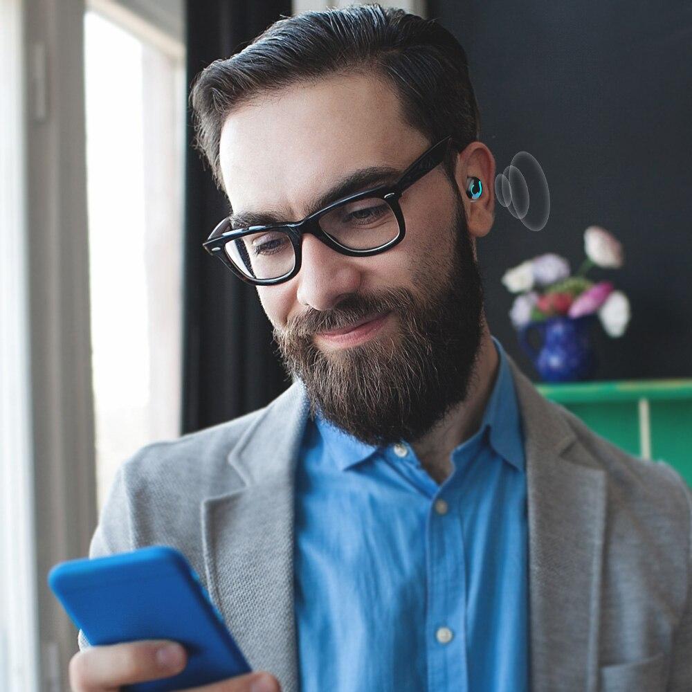Bluetooth 5.0 TWS słuchawki Bluetooth słuchawki bezprzewodowe do telefonu zestaw głośnomówiący słuchawki sportowe Ture bezprzewodowe słuchawki stereo HBQ-32
