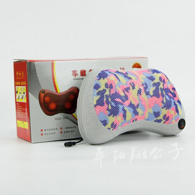1PC Infrared Heating Double Beauty Body Device Neck Massage Pillow Car Massager Cushion Seat Covers US plug 110-240V SE29