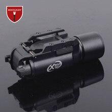 Тактический X300 светодиодный оружие светильник пистолет светодиодный налобный фонарь Airsoft вспышка светильник с Пикатинни для охоты