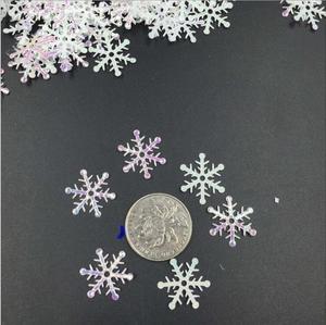 Image 4 - לבן פתיתי שלג פלאפי פתית שלג קונפטי חורף קונפטי שולחן חתונה מסיבת חג המולד קישוט 300 יח\אריזה