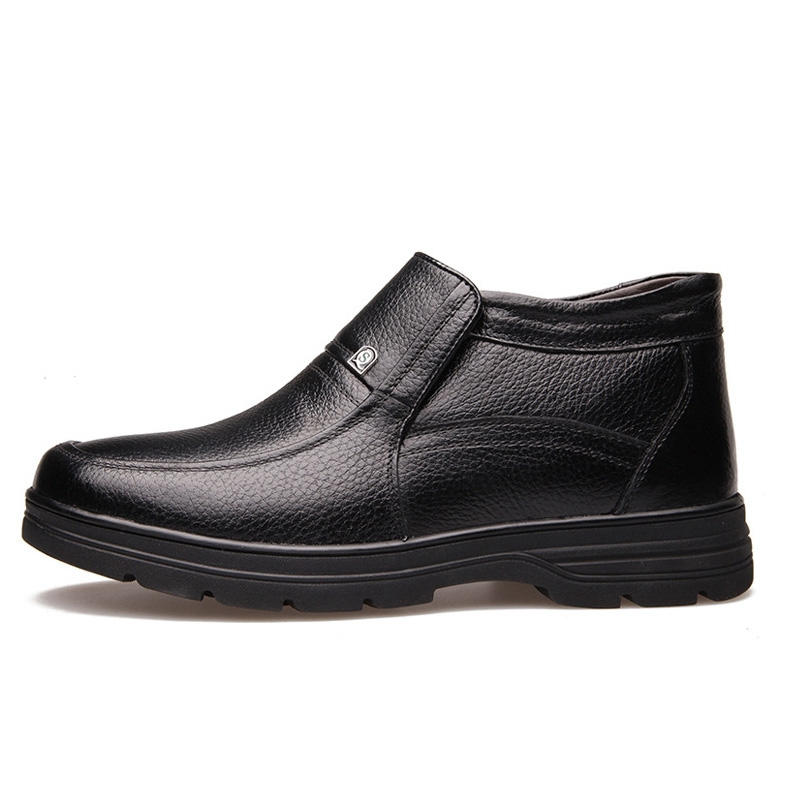 New Botas Para Ankle 38 Qualidade Huhuisen Homens Inverno Handmade 48 De Alta marrom Couro Size Neve Boots Preto Plus Genuíno dqqSP4aXw
