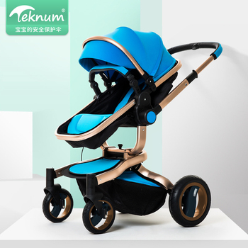 Teknum baby stroller high landscape  sit can lying  dual-use pram two-way four-wheel
