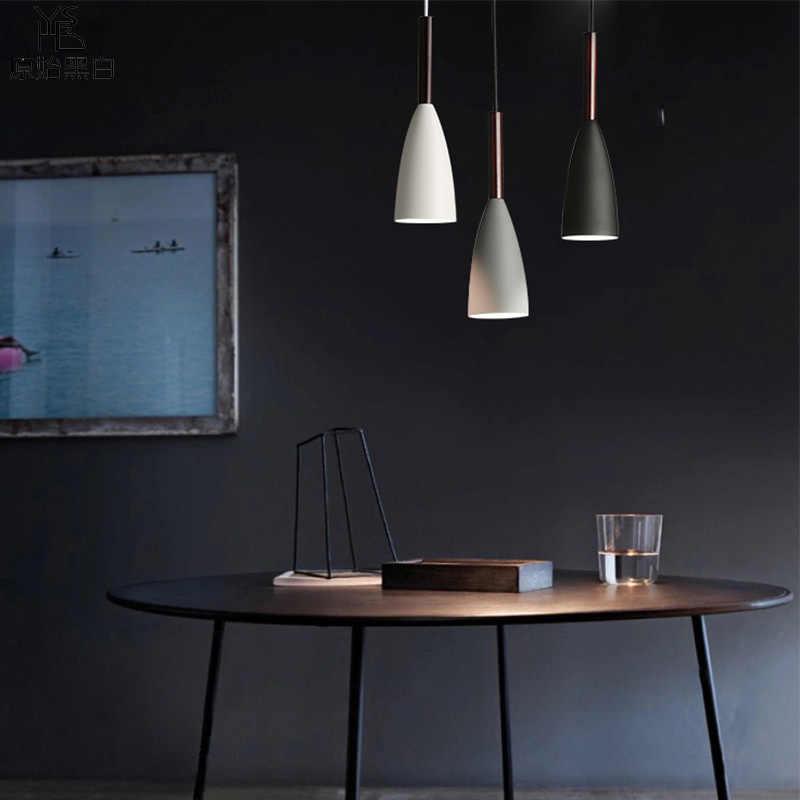 Nordic pingente lâmpada para sala de estar/quarto moderna luz pingente de madeira para lobby arte decoração pendurado barra luz luzes