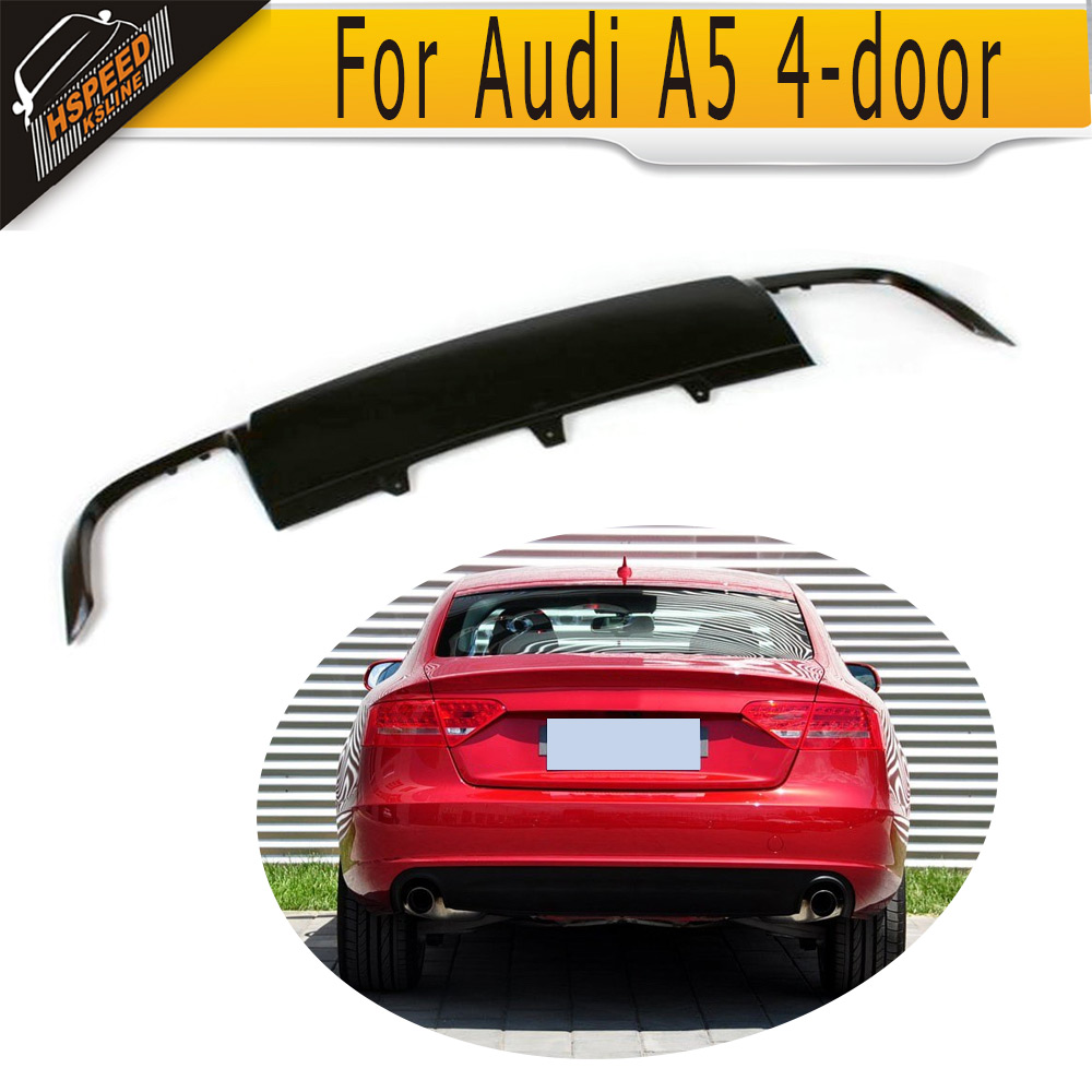 PU Rear bumper lip <font><b>diffuser</b></font> Fit for <font><b>Audi</b></font> <font><b>A5</b></font> 4 door Standard 2008-2011 Non for Sline image