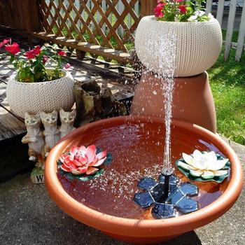 Мини-насос для фонтана на солнечной батарее в форме снежинки, плавающие солнечные водяные насосы, фонтеин для сада, бассейна, уличного украш...