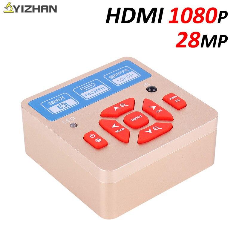 28MP Cmos caméra 1080P 60FPS HDMI USB électronique Microscope industriel caméra pour Microscope stéréo Zoom Microscope trinoculaire Microscopio