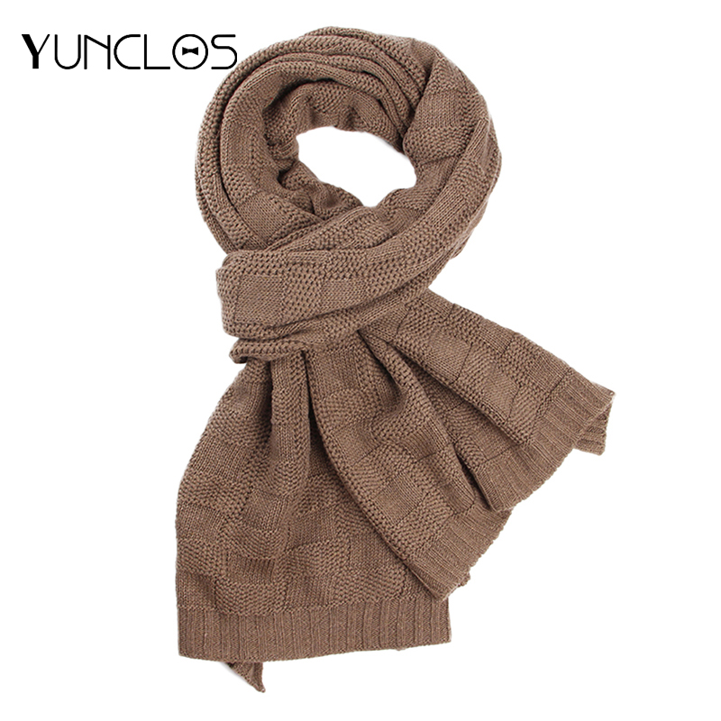Knitted Scarf Warm Winter Plaid Thick Fashion-Design High-Quality Men 40cm--180cm Couple's