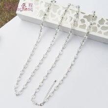 Повседневное/Спортивное эффектное белое ожерелье с кристаллами