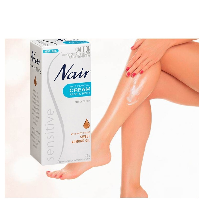 Original Australia Nair Sensitive Hair Removal Cream For Face Leg Bikini Area Under-Arms Skin Gentle Cream For Hair Remover Men